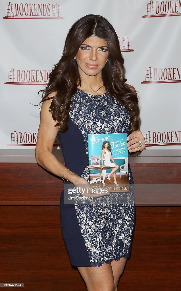 TV personality Teresa Giudice signs copies of 'Turning The Tables' at Bookends on February 10 2016 in Ridgewood New Jersey