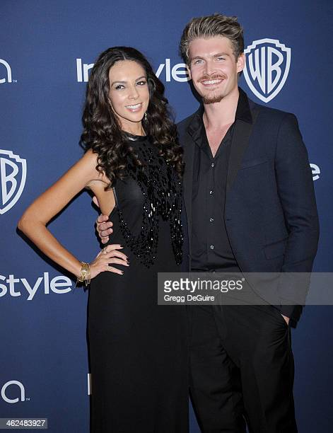 TV personality Terri Seymour and Clark Mallon arrive at the 2014 InStyle And Warner Bros 71st Annual Golden Globe Awards postparty at The Beverly...