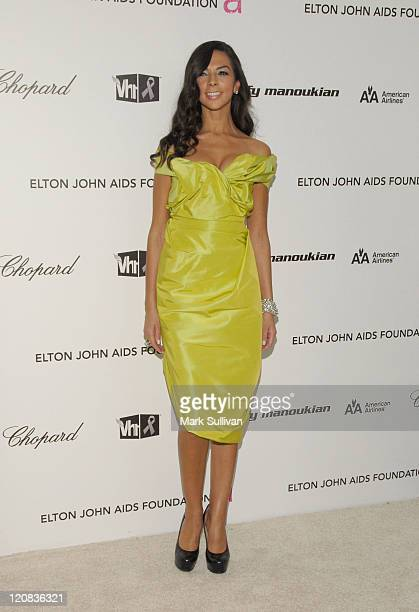 TV Personality Terri Seymour arrives at the 17th Annual Elton John AIDS Foundation's Academy Award Viewing Party held at the Pacific Design Center on...