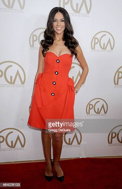TV personality Terri Seymour arrives at the 25th Annual Producers Guild Awards at The Beverly Hilton Hotel on January 19 2014 in Beverly Hills...