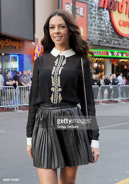 TV personality Terri Seymour arrives at the Los Angeles premiere of 'Million Dollar Arm' at the El Capitan Theatre on May 6 2014 in Hollywood...