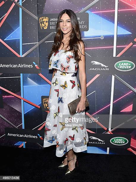 TV personality Terri Seymour attends the 2015 Jaguar Land Rover British Academy Britannia Awards presented by American Airlines at The Beverly Hilton...