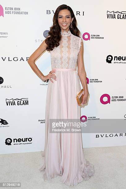 TV personality Terri Seymour attends the 24th Annual Elton John AIDS Foundation's Oscar Viewing Party on February 28 2016 in West Hollywood California
