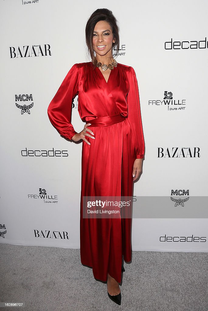 TV personality Terri Seymour attends the Harper's BAZAAR celebration of Cameron Silver and Christos Garkinos of Decades new Bravo series 'Dukes of Melrose' at The Terrace at Sunset Tower on February 28, 2013 in West Hollywood, California.