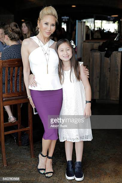 TV personality Tess Broussard and actress Ava Goldsmith attend the preview party for E's 'Botched' at Smithhouse Tap Grill on June 14 2016 in Century...