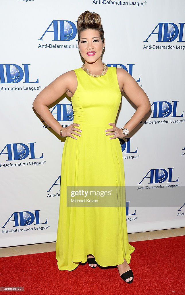 TV personality Tessanne Chin attends the AntiDefamation League Entertainment Industry Dinner Honoring Roma Downey And Mark Burnett at The Beverly...