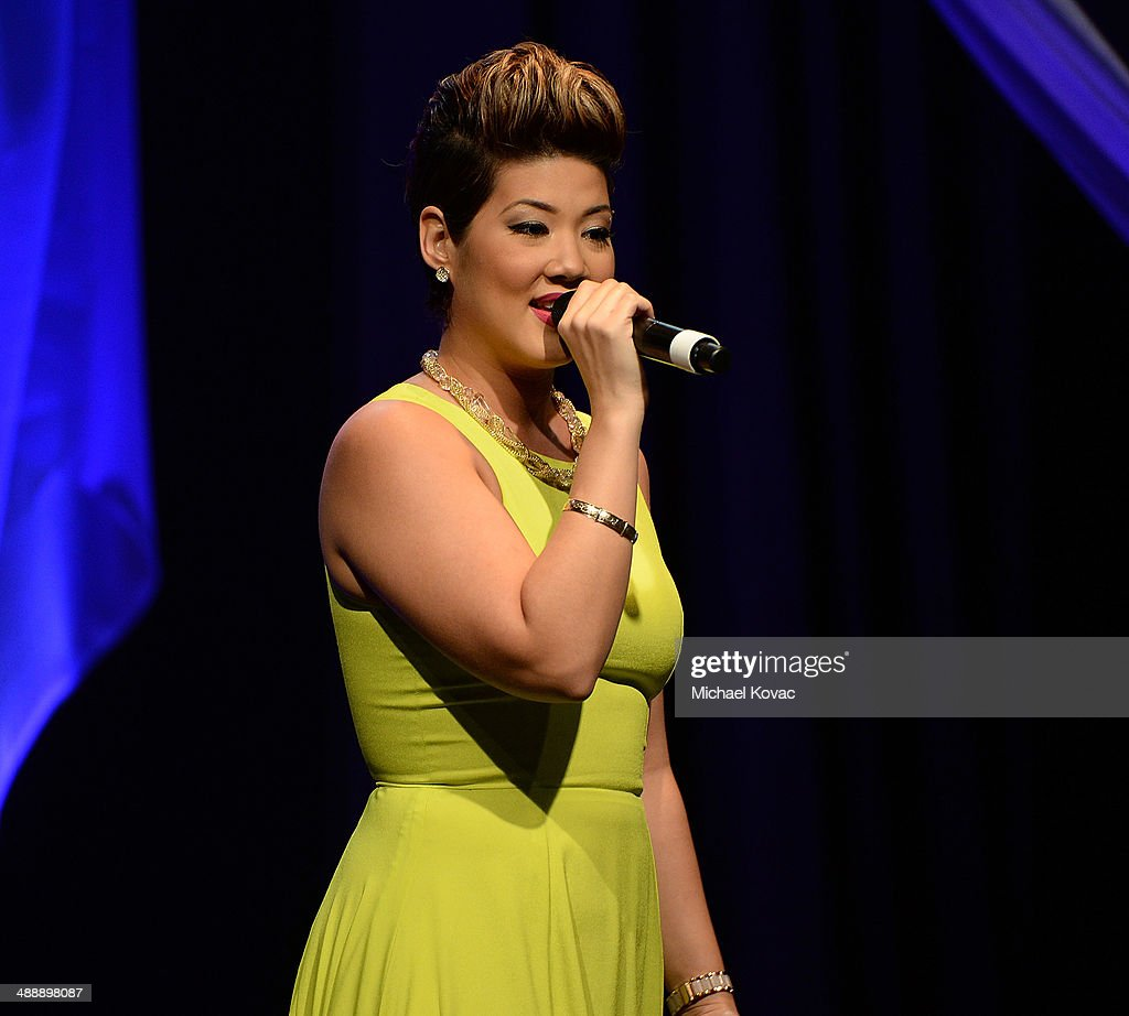 TV personality Tessanne Chin performs onstage at the AntiDefamation League Entertainment Industry Dinner Honoring Roma Downey And Mark Burnett at The...