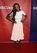 TV personality Tia Shipman arrives at the 2016 Summer TCA Tour NBCUniversal Press Tour at the Four Seasons Hotel Westlake Village on April 1 2016 in...