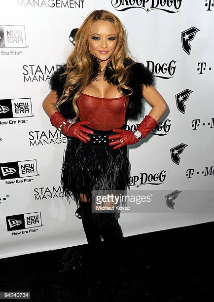 TV personality Tila Tequila attends the Famous Stars and Straps 10th Anniversary and Snoop Dogg 10th Album Release at Vanguard on December 8 2009 in...
