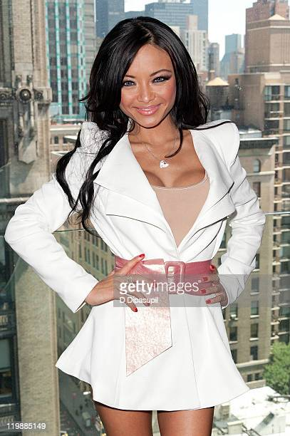 TV personality Tila Tequila visits AOL Popeater's 'Naughty But Nice' at the Gansevoort Park Hotel on July 26 2011 in New York City
