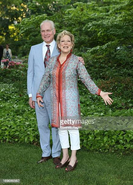 TV personality Tim Gunn and actress Bette Midler pose for a picture during the 12th Annual Bette Midler's New York Restoration Project Spring Picnic...