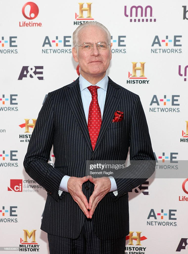 TV personality <a gi-track='captionPersonalityLinkClicked' href=/galleries/search?phrase=Tim+Gunn&family=editorial&specificpeople=696109 ng-click='$event.stopPropagation()'>Tim Gunn</a> attends the 2013 A+E Networks Upfront at Lincoln Center on May 8, 2013 in New York City.
