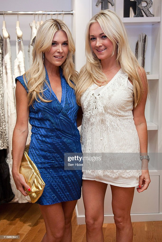 TV Personality <a gi-track='captionPersonalityLinkClicked' href=/galleries/search?phrase=Tinsley+Mortimer&family=editorial&specificpeople=207123 ng-click='$event.stopPropagation()'>Tinsley Mortimer</a> and sister <a gi-track='captionPersonalityLinkClicked' href=/galleries/search?phrase=Dabney+Mercer&family=editorial&specificpeople=779141 ng-click='$event.stopPropagation()'>Dabney Mercer</a> attend the 5 year anniversary of the Tracy Reese Flagship Store on June 8, 2011 in New York City.