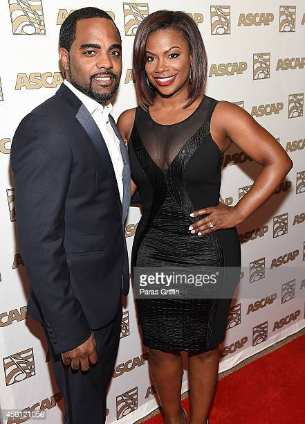 TV personality Todd Tucker and TV personality Kandi Burruss attends the ASCAP Rhythm And Soul 3rd Annual Atlanta Legends Dinner Honoring Antonio 'LA'...