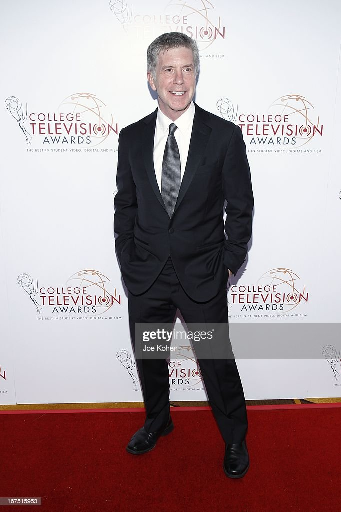 TV personality <a gi-track='captionPersonalityLinkClicked' href=/galleries/search?phrase=Tom+Bergeron&family=editorial&specificpeople=663624 ng-click='$event.stopPropagation()'>Tom Bergeron</a> attends the 34th College Television Awards Gala at JW Marriott Los Angeles at L.A. LIVE on April 25, 2013 in Los Angeles, California.