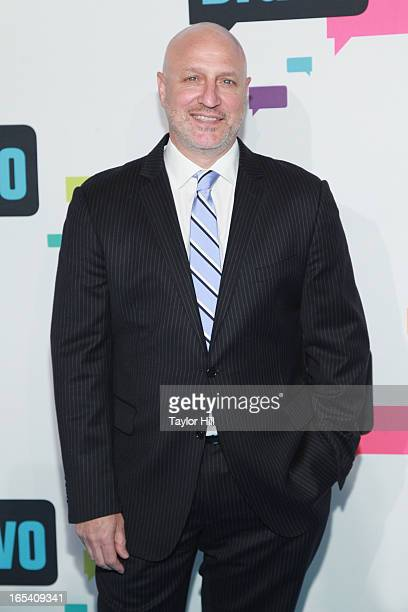 TV personality Tom Colicchio of 'Top Chef' attends the 2013 Bravo Upfront at Pillars 37 Studios on April 3 2013 in New York City