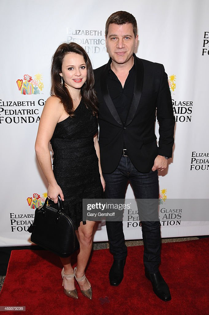 Personality Tom Murro and Olympic Skater Sasha Cohen attend Elizabeth Glaser Pediatric AIDS Foundation's Global Impact Award Gala Dinner Honoring...