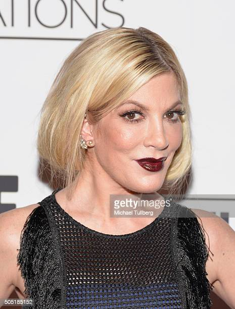 TV personality Tori Spelling attends David Tutera's 50th birthday celebration at Vibiana on January 15 2016 in Los Angeles California