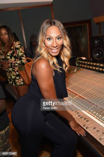 Personality Towanda Braxton attends Dinner and Book Signing With Rosie Perez at Tree Sound Studios on September 9 2014 in Norcross Georgia