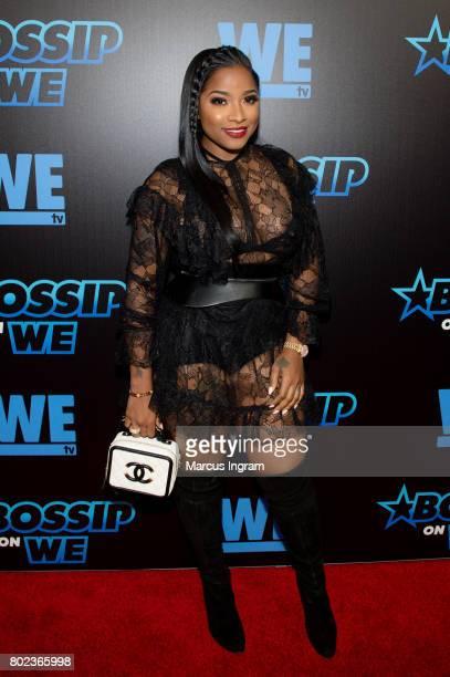 TV personality Toya Wright attends 'Bossip On WE' Atlanta launch celebration at Elevate at W Atlanta Midtown on June 27 2017 in Atlanta Georgia