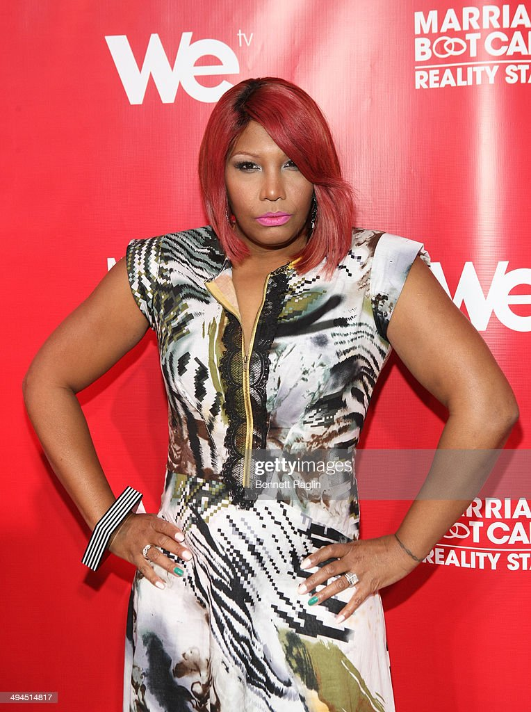 TV personality Traci Braxton attends the 'Marriage Boot Camp: Reality Stars' event at Catch Rooftop on May 29, 2014 in New York City.