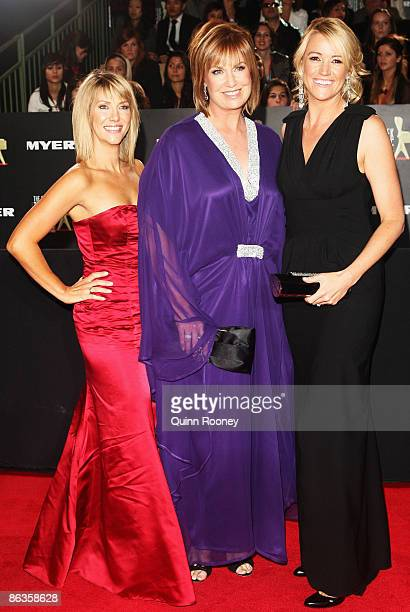 TV personality Tracy Grimshaw and Leila McKinnon arrive for the 51st TV Week Logie Awards at the Crown Towers Hotel and Casino on May 3 2009 in...