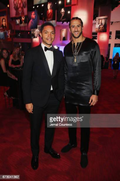 Personality Trevor Noah and Colin Kaepernick attend the 2017 Time 100 Gala at Jazz at Lincoln Center on April 25 2017 in New York City