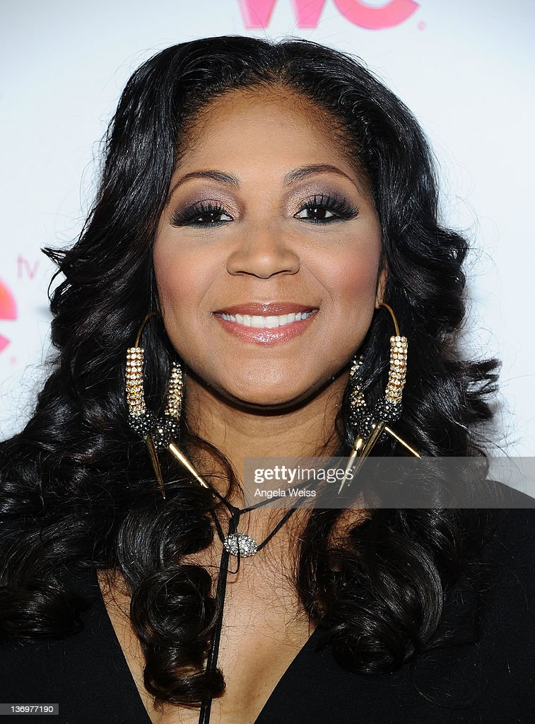 TV personality Trina Braxton arrives at WE tv's 'Family Affair' 2012 Winter TCA event at Langham Hotel on January 13 2012 in Pasadena California