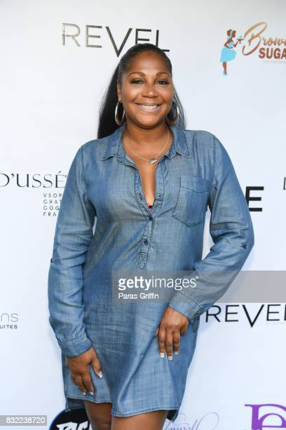 TV personality Trina Braxton at 'Survivor's Remorse' Season 4 Celebration and RonReaco Lee's Kontrol Homme Cover Release Party at The Marke on August...