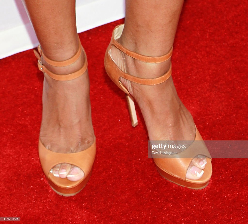 TV personality Trina Braxton attends a reunion special taping for the WE TV series' 'Braxton Family Values' at Occidental Studios on May 28 2011 in...