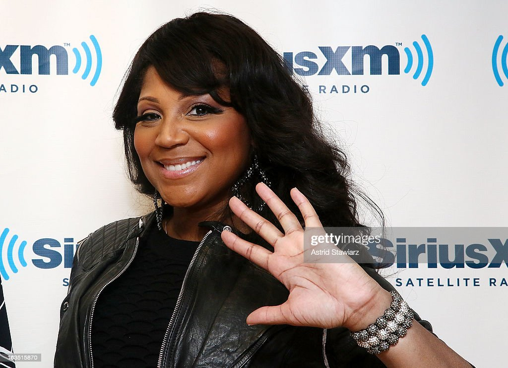 TV personality <a gi-track='captionPersonalityLinkClicked' href=/galleries/search?phrase=Trina+Braxton&family=editorial&specificpeople=5880827 ng-click='$event.stopPropagation()'>Trina Braxton</a> from WE TV's 'Braxton Family Values' visits the SiriusXM studios on March 11, 2013 in New York City.