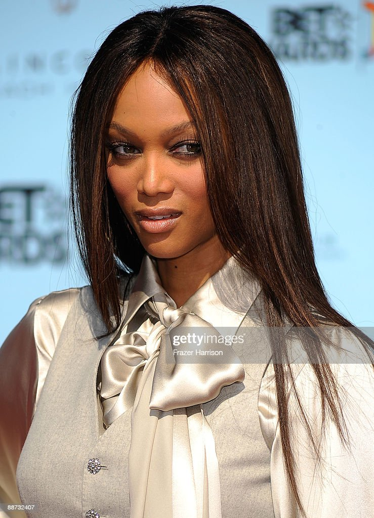 TV personality Tyra Banks arrives at the 2009 BET Awards held at the Shrine Auditorium on June 28, 2009 in Los Angeles, California.