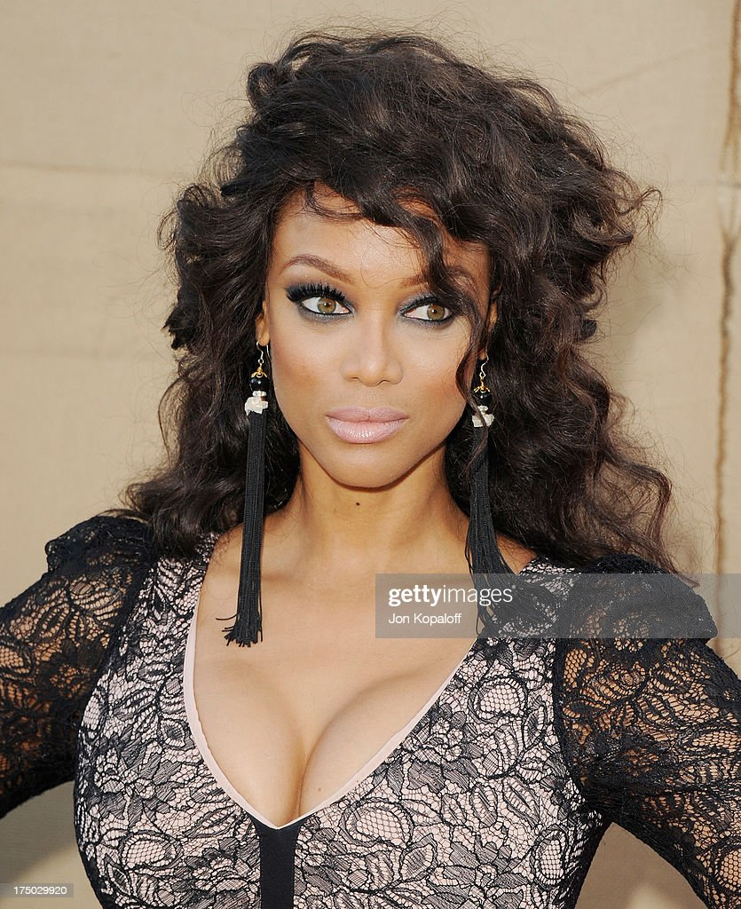 TV personality Tyra Banks arrives at the 2013 Television Critic Association's Summer Press Tour - CBS, The CW, Showtime Party at The Beverly Hilton Hotel on July 29, 2013 in Beverly Hills, California.
