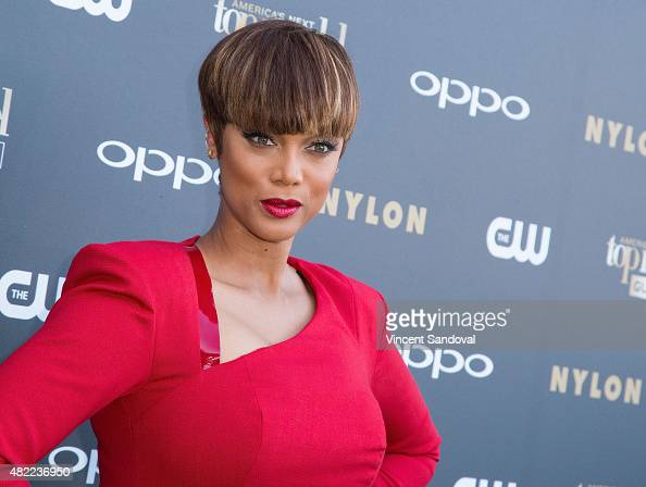 Personality Tyra Banks attends 'America's Next Top Model' Cycle 22 premiere party at Greystone Manor on July 28 2015 in West Hollywood California