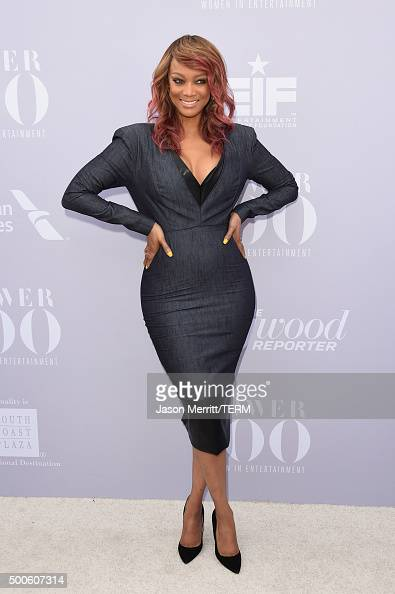 TV personality Tyra Banks attends the 24th annual Women in Entertainment Breakfast hosted by The Hollywood Reporter at Milk Studios on December 9...
