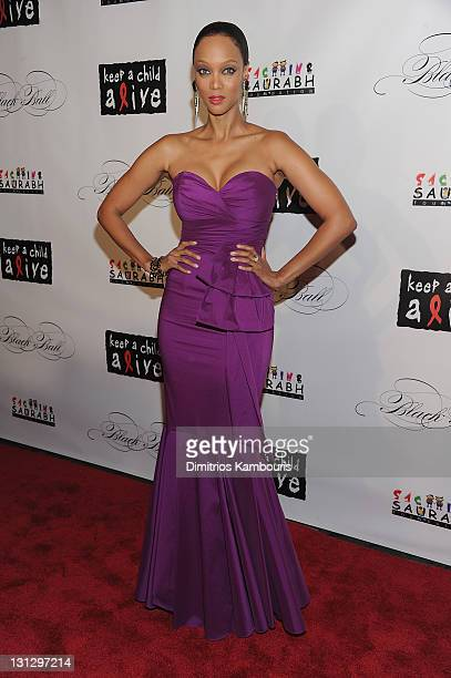 TV personality Tyra Banks attends the 8th annual Keep A Child Alive Black Ball at the Hammerstein Ballroom on November 3 2011 in New York City