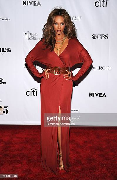 TV personality Tyra Banks attends the Conde Nast Media Group's Fifth Annual Fashion Rocks at Radio City Music Hall on September 5 2008 in New York...