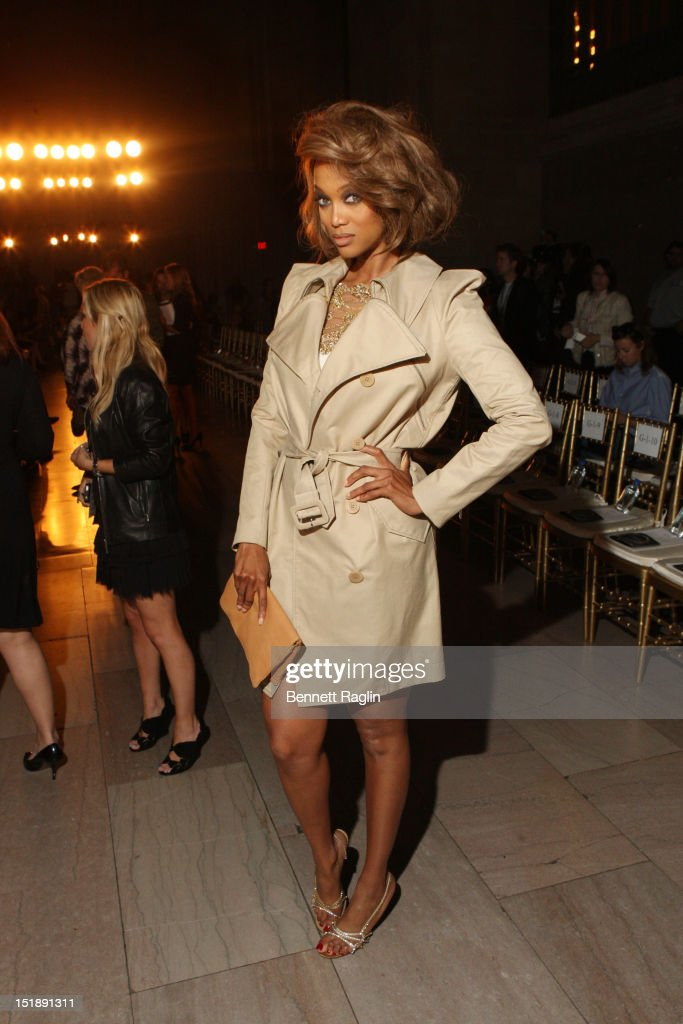 TV personality <a gi-track='captionPersonalityLinkClicked' href=/galleries/search?phrase=Tyra+Banks&family=editorial&specificpeople=202216 ng-click='$event.stopPropagation()'>Tyra Banks</a> attends the Marchesa show during Spring 2013 Mercedes-Benz Fashion Week at Grand Central Terminal on September 12, 2012 in New York City.