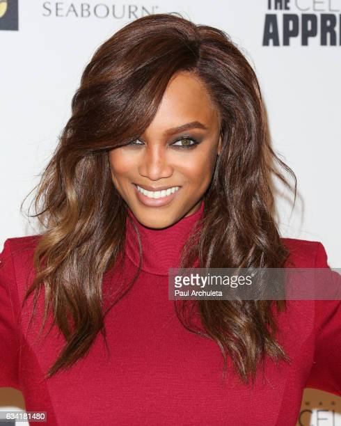 Personality Tyra Banks attends the red carpet event for NBC's 'Celebrity Apprentice' at Westin Bonaventure Hotel on March 2 2016 in Los Angeles...
