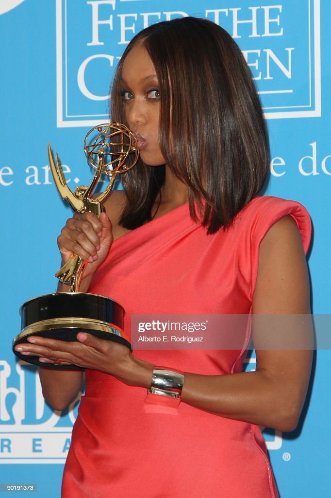 TV Personality Tyra Banks poses in the press room during the 36th Annual Daytime Emmy Awards at The Orpheum Theatre on August 30, 2009 in Los Angeles, California.