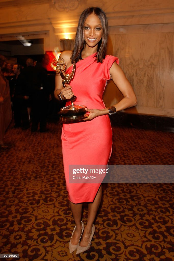 TV personality Tyra Banks, winner of the Emmy for Outstanding Talk Show/Informative, attends the 36th Annual Daytime Emmy Awards at The Orpheum Theatre on August 30, 2009 in Los Angeles, California.