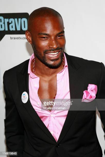 TV personality Tyson Beckford arrives at Bravo's First Ever 'AList Awards' on June 4 2008 at Hammerstein Ballroom in New York