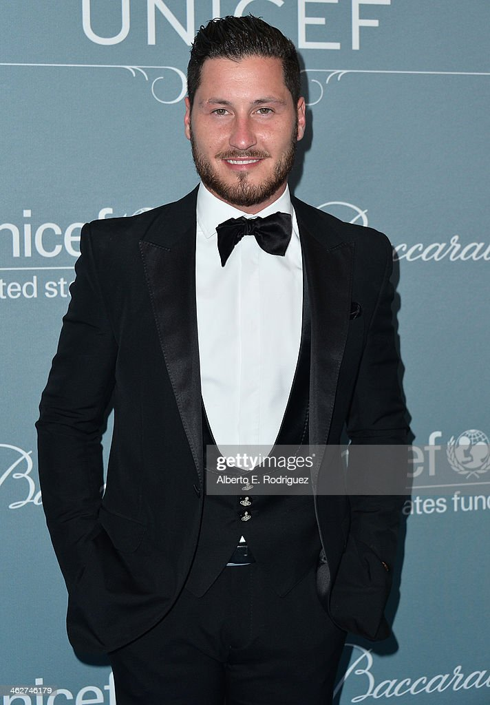 TV personality Val Chmerkovskiy arrives to the 2014 UNICEF Ball Presented by Baccarat at the Regent Beverly Wilshire Hotel on January 14, 2014 in Beverly Hills, California.