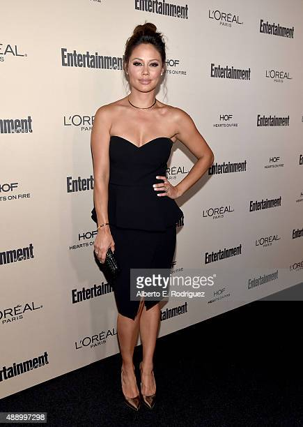 TV personality Vanessa Lachey attends the 2015 Entertainment Weekly PreEmmy Party at Fig Olive Melrose Place on September 18 2015 in West Hollywood...