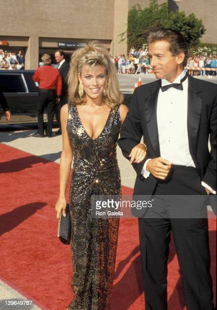 Personality Vanna White and date attending 38th Annual Primetime Emmy Awards on September 21 1986 at the Pasadena Civic Auditorium in Pasadena...