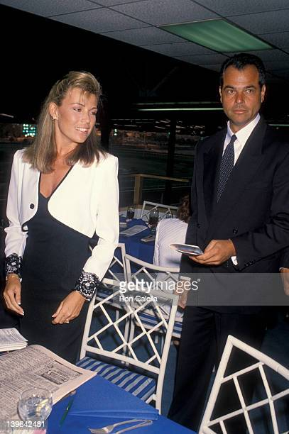 Personality Vanna White and husband George Santopietro attending First Annual Hollywood Stars Night on June 22 1990 at Hollywood Park in Hollywood...