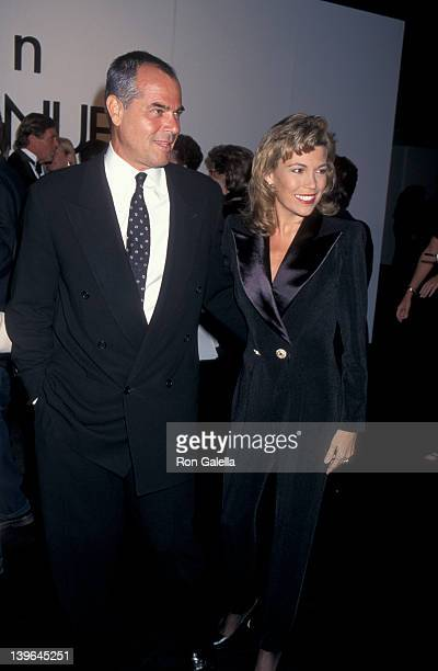 Personality Vanna White and husband George Santopietro attending 'Calvin Klein Fashion Show Benefiting Multiple Sclerosis' on September 19 1995 at...