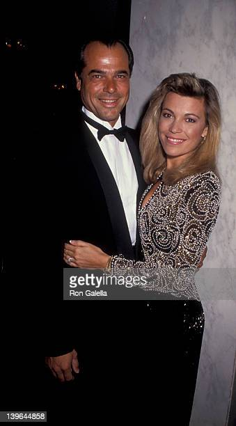 Personality Vanna White and husband George Santopietro attending the opening party for 'Escada Fashion Gala' on October 23 1991 at the Beverly...
