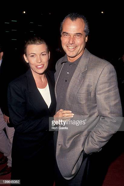 Personality Vanna White and husband George Santopietro attending the premiere of 'Junior' on November 14 1994 at the Cinerama Dome Theater in...