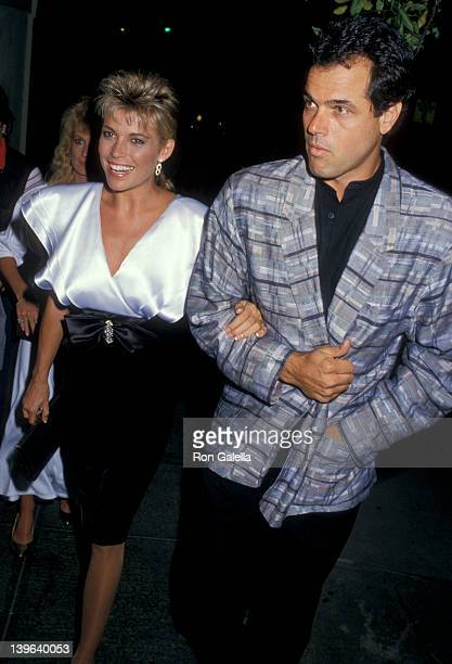 Personality Vanna White and husband George Santopietro being photographed on September 9 1987 at Spago Restaurant in West Hollywood California